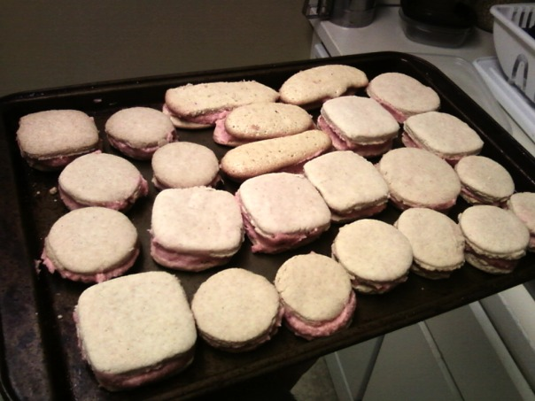 buttercream cookie sandwiches