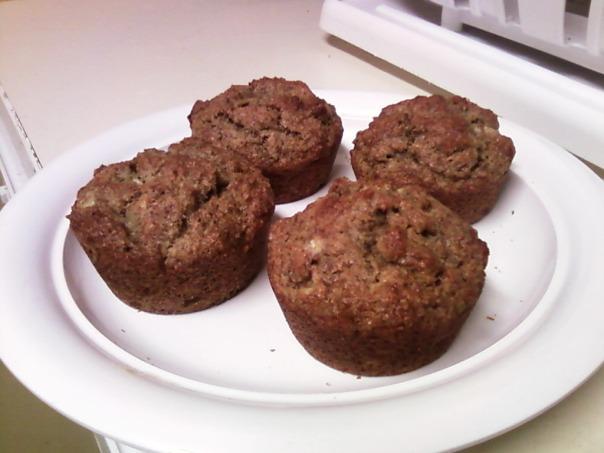 banana flax muffin