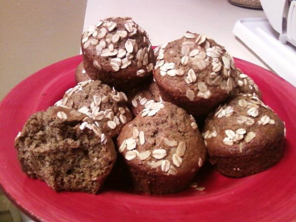 flax oat triticale muffin