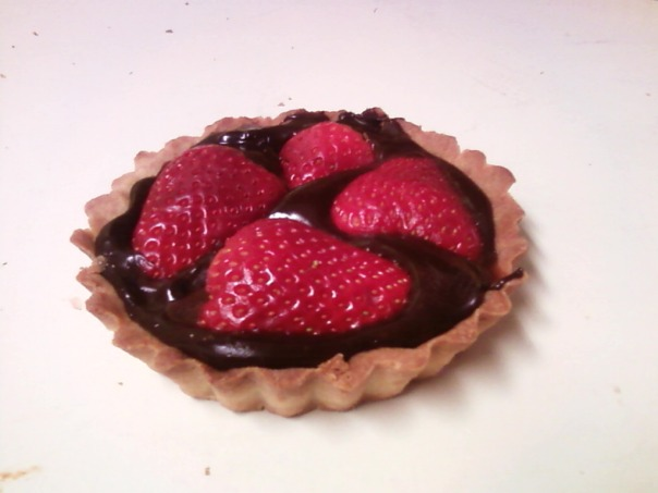 strawberry ganache tart twin #1 a