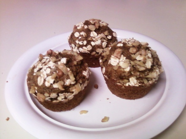 oat walnut flax muffin