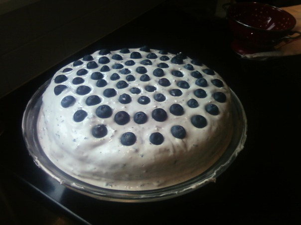 lime blueberry cake whole