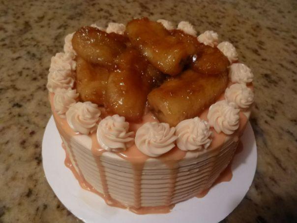 caramel banana cake 1