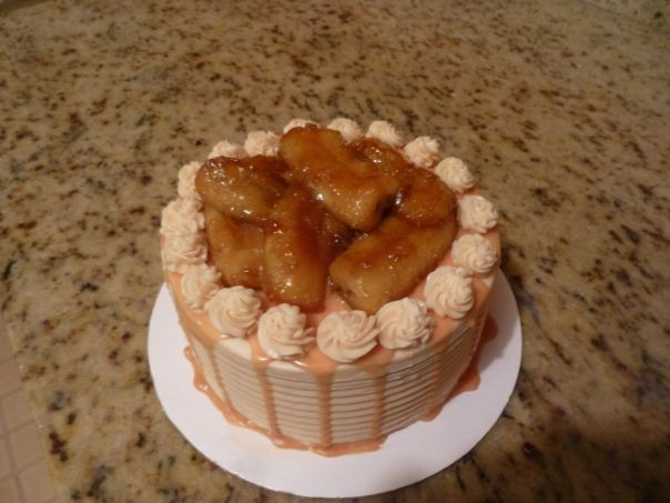 caramel banana cake 2