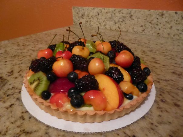 lemon fresh fruit tart glazed