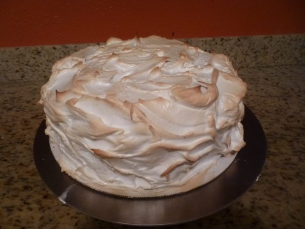 lemon mousse cake baked meringue 1