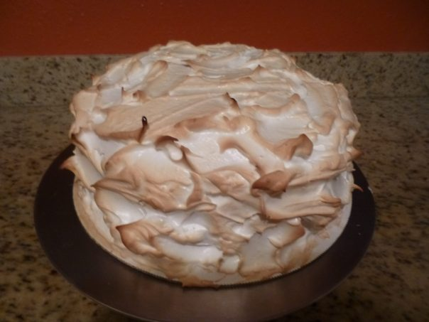 lemon mousse cake baked meringue 2