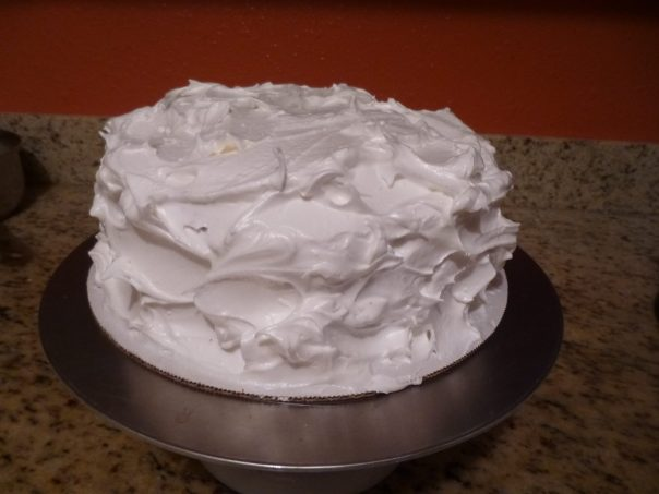 lemon mousse cake unbaked meringue