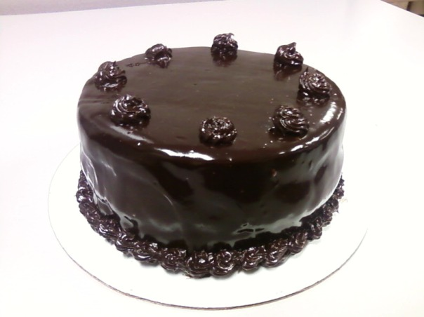 chocolate cake caramel bc ganache whole