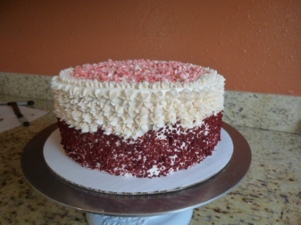 peppermint red velvet cake 1