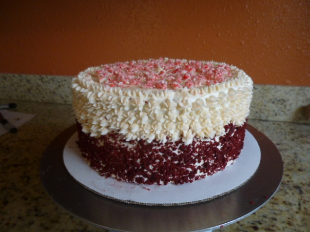 peppermint red velvet cake 2