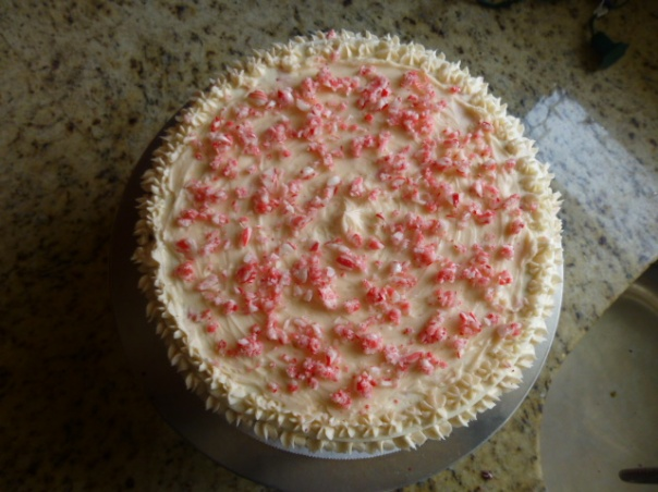 peppermint red velvet cake 3