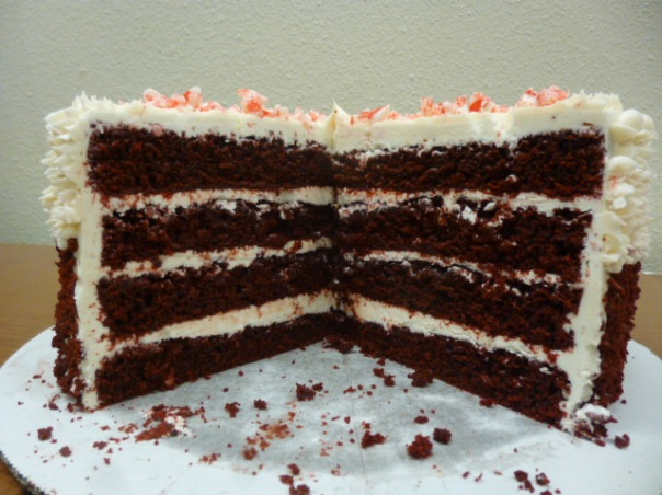 peppermint red velvet cake section 1
