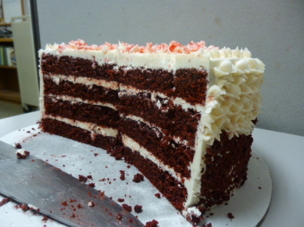 peppermint red velvet cake section 2