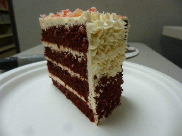 peppermint red velvet cake slice 1