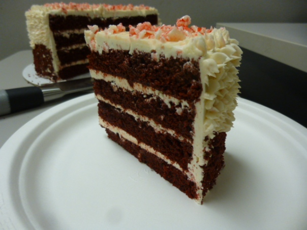 peppermint red velvet cake slice 2