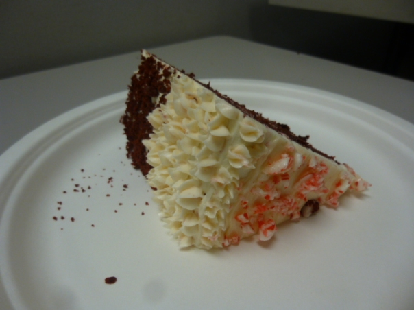 peppermint red velvet cake slice 4