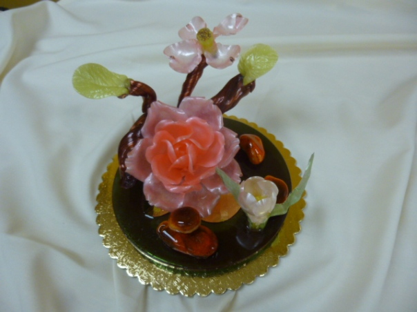 pulled sugar showpiece 1