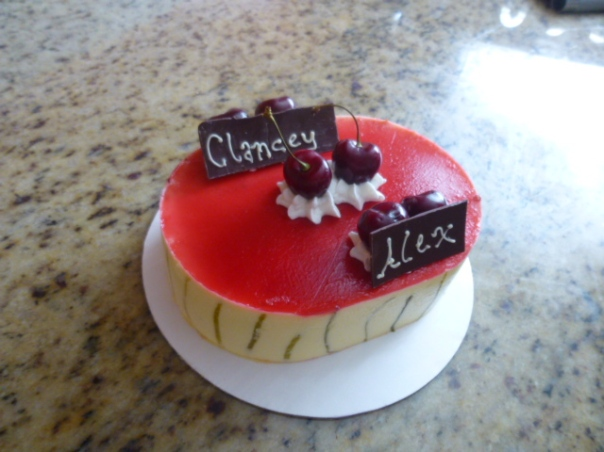 lime cherry mousse cake 1
