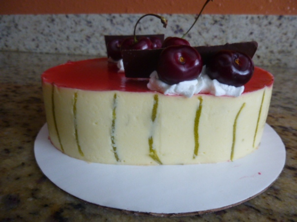 lime cherry mousse cake 5