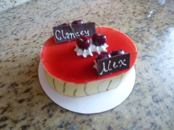 lime cherry mousse cake 2